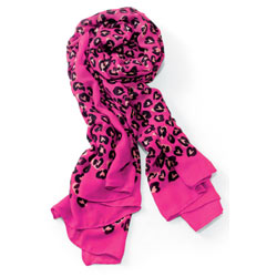 Heart Printing Pink Scarf